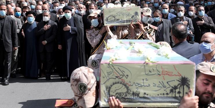تشییع پیکر دو شهید گمنام در نهاد ریاست جمهوری