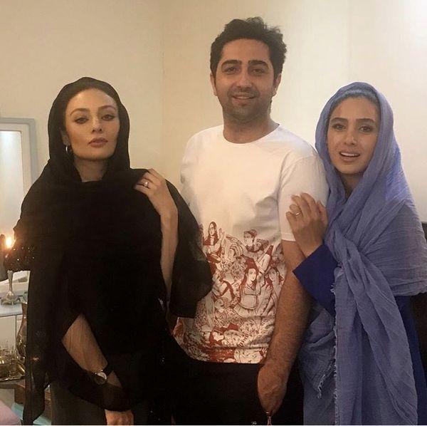یکتا ناصر در کنار علی سخنگو و همسر جوانش /عکس