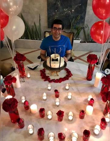 جشن تولد ۴۴ سالگی مجری پر حاشیه+تصاویر