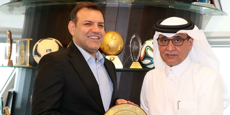 دیدار عزیزی خادم با نایب رئیس فوتبال قطر+ عکس