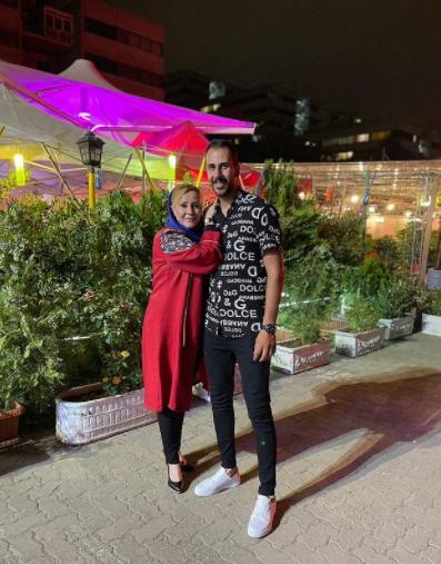 شب خوب شیوا خسرومهر در کنار برادرش /عکس