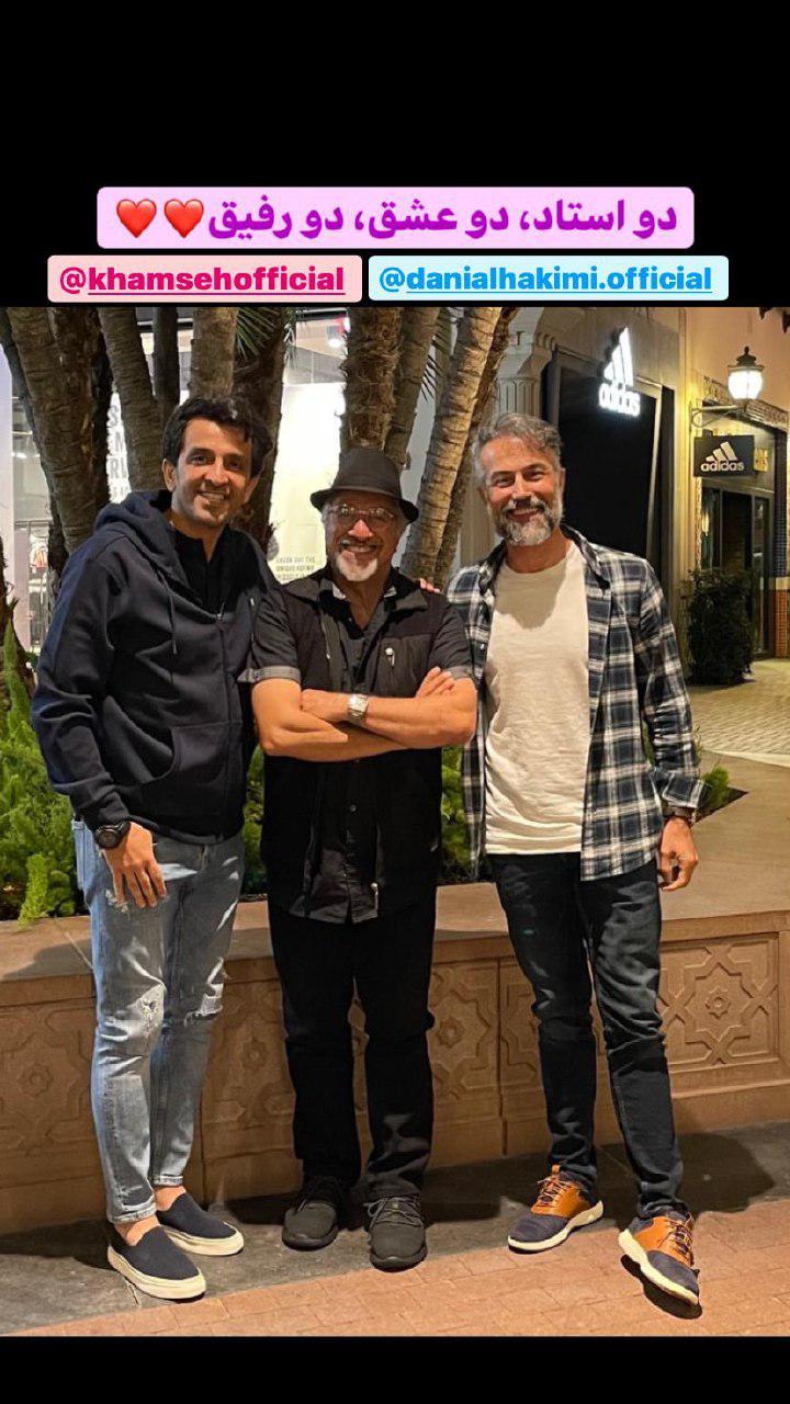 استوری مجید یاسر در کنار دو بازیگر + عکس