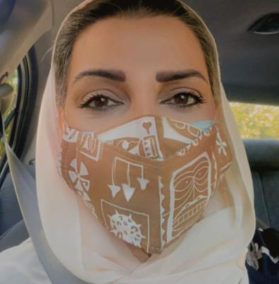 چشمان گیرای الهام پاوه نژاد از پس ماسکش /عکس