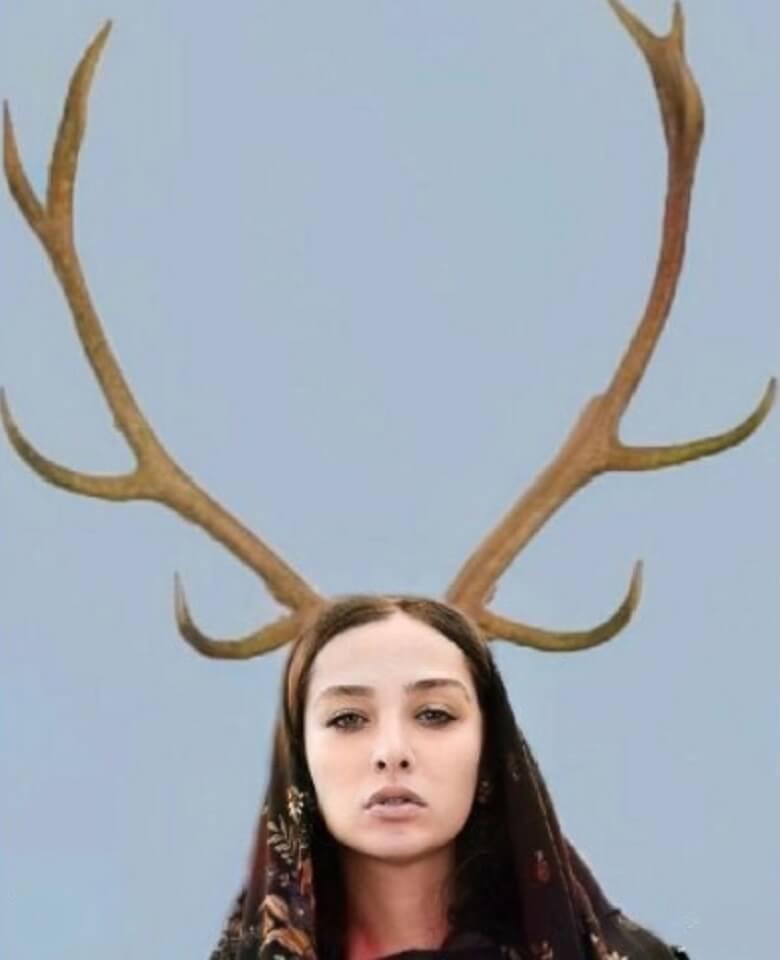 آناهیتا درگاهی با شاخ هایی بلند /عکس