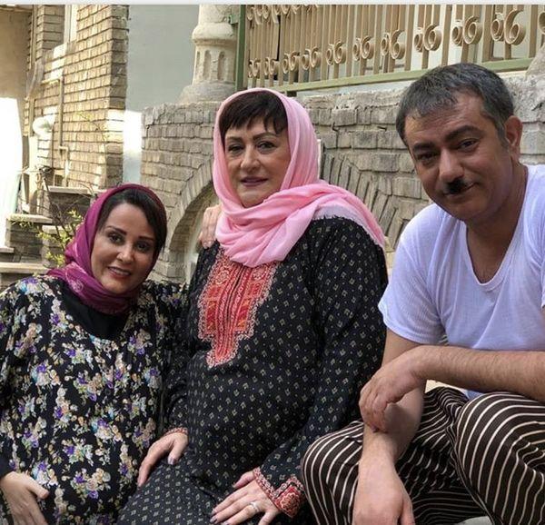 گریم جالب مریم امیرجلالی و محمدرضا هدایتی /عکس