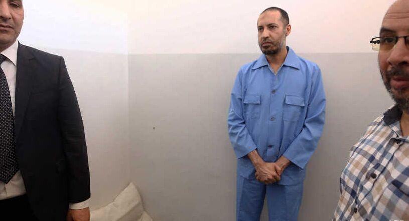 پسر قذافی پس از ۷ سال از زندان آزاد شد