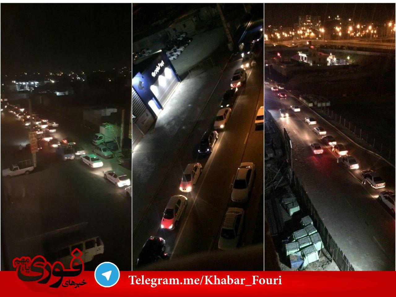 هجوم مردم به پمپ بنزین های تهران