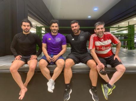 دوستان ورزشکار حمید گودرزی /عکس