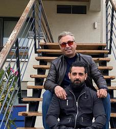 عکس دونفره حمید فرخ نژاد و امیرحسین آرمان