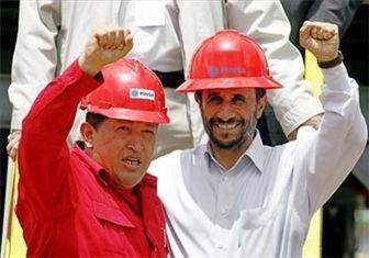 احمدی نژاد در حاشیه مراسم بزرگداشت چاوز