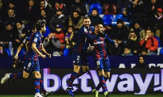 شکست بارسا بدون مسی و سوارس/ لوانته ۲ - بارسلونا 1