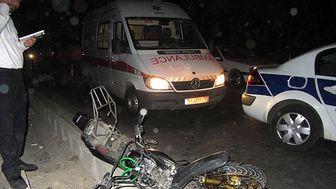 یک کشته در پی واژگونی موتورسیکلت