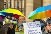 تجمع جلیقه زردهای معترض به ماکرون در پاریس