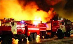 آتشسوزی گسترده در کارخانه قیرسازی
