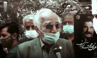 اشک های بی امان رضا بنفشه خواه در فراق عزت الله مهرآوران /فیلم