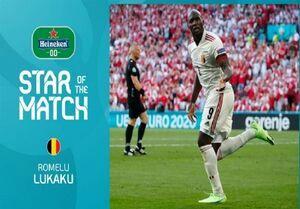 بهترین بازیکن دیدار دانمارک - بلژیک