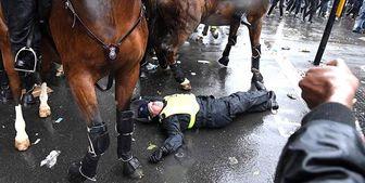 زخمی شدن 14 پلیس در اعتراضات ضدنژادپرستی انگلیس