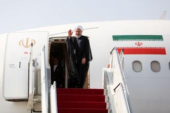 روحانی تهران را به مقصد نیویورک ترک کرد + عکس