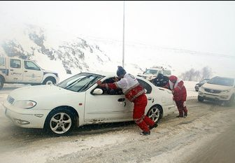 برف و کولاک شدید در برخی جاده های کشور