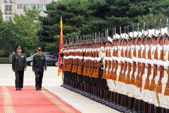 تصویری از احترام نظامی چینیها به سرلشکر باقری