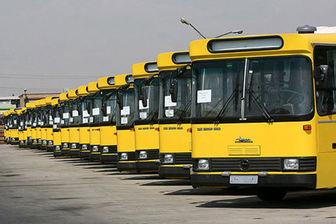 خدمت رسانی اتوبوسرانی در راهپیمایی روز 13 آبان