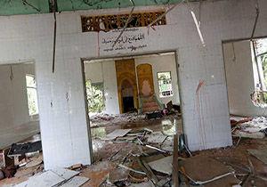 مسجد مسلمانان در میانمار به آتش کشیده شد