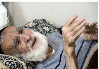 پیرغلام اهلبیت(ع) در بخش ICU بیمارستان شهید هاشمینژاد