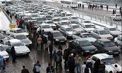 باران پایتخت با چاشنی ترافیک