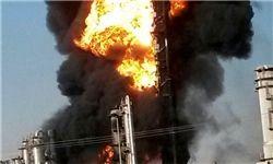 پتروشیمی سعودی در آتش سوخت