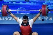 3 مدال طلا بر سینه داوودی در وزنهبرداری قهرمانی آسیا