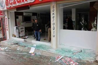اصابت سه فروند راکت به  شهر کیلیس ترکیه+تصاویر