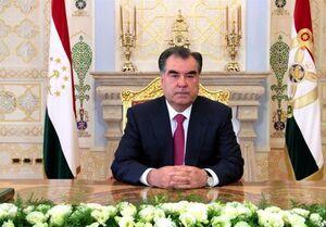 پیام تبریک رئیس جمهوری تاجیکستان پیروزی رئیسی