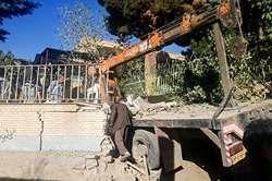 برخورد جرثقیل با هیات عزاداران حسینی +عکس