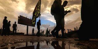تصویری خاص از پیاده روی اربعین/عکس