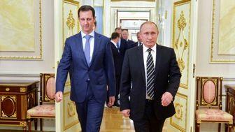 حضور پوتین و بشار اسد در کنار خلبانان روس/عکس