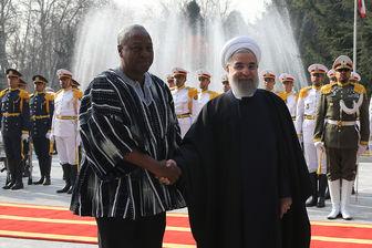 استقبال رسمی روحانی از رییس جمهور غنا