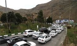 ترافیک پرحجم در محورهای فیروزکوه و هراز