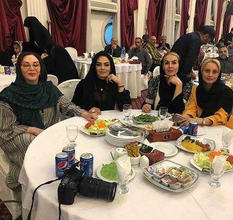 دورهمی خانم های بازیگر در مراسم افطاری