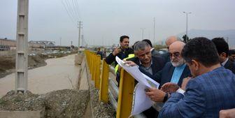 بازدید قاضی سراج از مناطق سیلخیز تهران