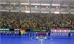 شکست تیم ملی فوتسال در نیمه نخست