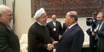 دیدار رئیس جمهور لبنان با روحانی