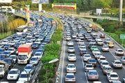 ترافیک پر حجم در محورهای تهران-کرج و تهران-قم