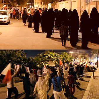 تظاهرات گسترده مردم بحرین علیه آلخلیفه و آلسعود