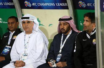 واکنش مدیر العین امارات به بازی با استقلال
