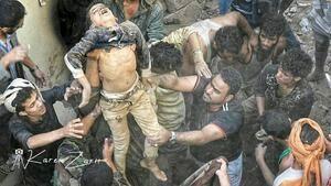 جنایت وحشتناک عربستان در یمن
