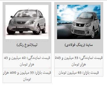 قیمت خودرو امروز افزایش یافت + جدول