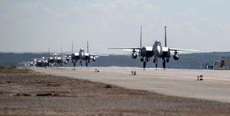 انتقال جنگنده های «اف-15» آمریکا از انگلیس به غرب آسیا