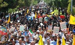 قدم های روزه داران همچون سنگ به سمت تل آویو/ حضور میلیونی در حمایت از فلسطین