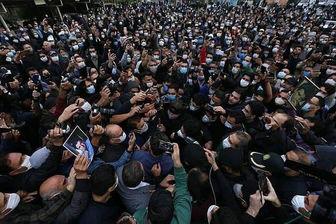 تغییر مکان خاکسپاری استاد شجریان در دقیقه 90/ عکس