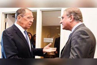 وزیر خارجه پاکستان با همتای روس خود دیدار کرد
